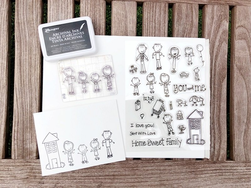 Easy Stamped Watercolor Cards on the Go with Creatively Beth #creativelybeth #watercolor #laurakellydesigns #stampedcards #thermoweb